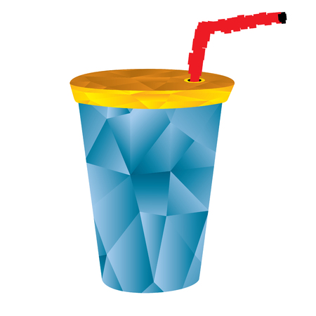 Isolated geometrical soda cup, Fast food illustration