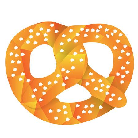 Isolated geometrical pretzel, Fast food illustration