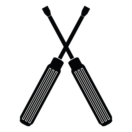 screwdrivers: Isolated pair of screwdrivers icon on a white background
