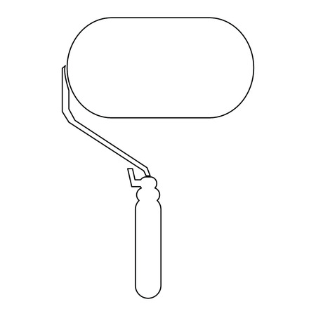 paintroller: Isolated paintroller icon on a white background
