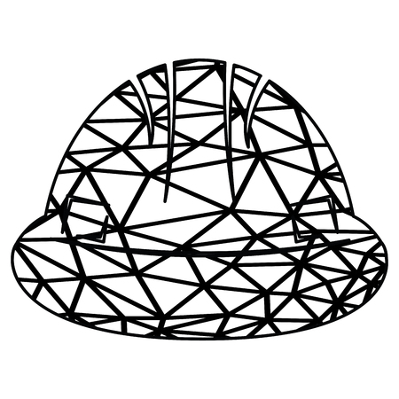 helm: Isolated construction helm icon on a white background