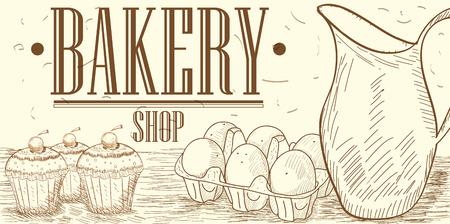dozen: Vintage bakery graphic design, Vector illustration