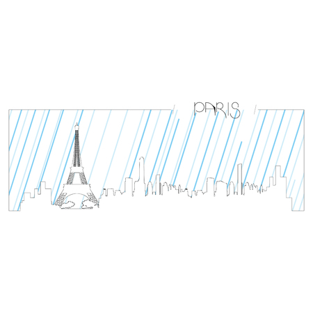 metropolis image: Isolated abstract skyline of Paris, Vector illustration