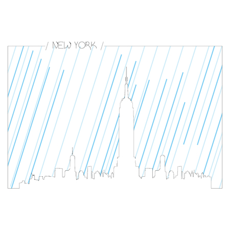 new york skyline: Isolated abstract skyline of New York, Vector illustration Illustration