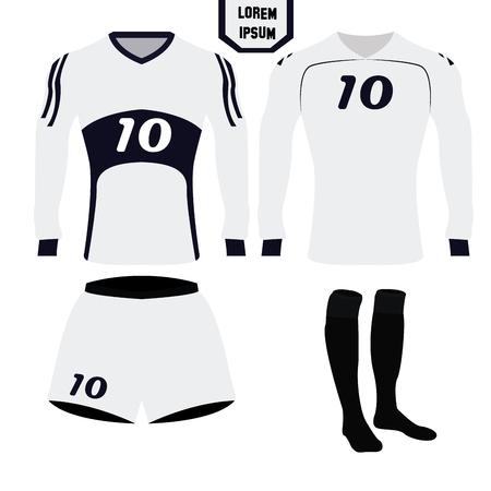 soccer uniform: Isolated soccer uniform on a white background, Vector illustration