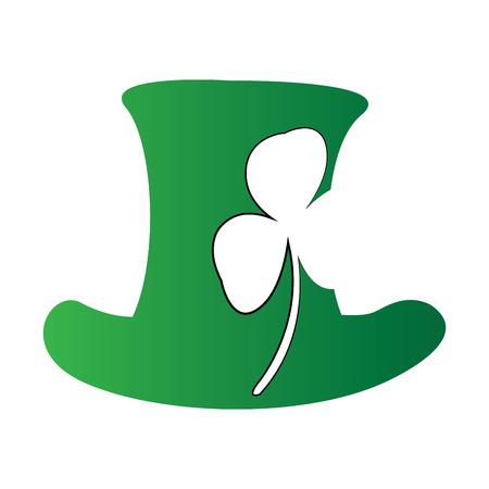 Isolated traditional irish flag on a white background, Vector illustration Illustration