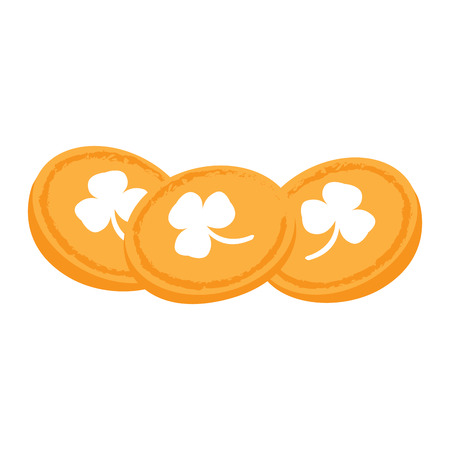 golden coins: Isolated group of golden coins, Vector illustration