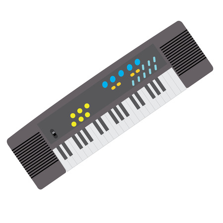 Isolated keyboard toy on a white background