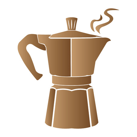 Isolated coffee pot on a white background Stock Photo
