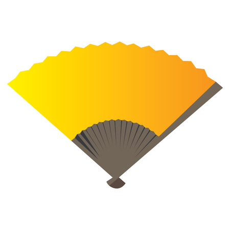 Isolated traditional hand fan on a white background, Vector illustration Illustration
