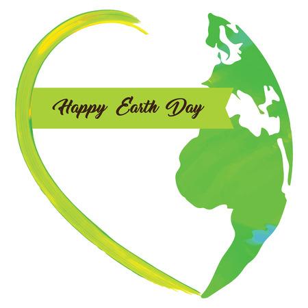 Colored Earth day graphic design, Vector illustration