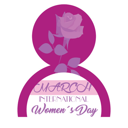 Happy women day graphic design, Vector illustration
