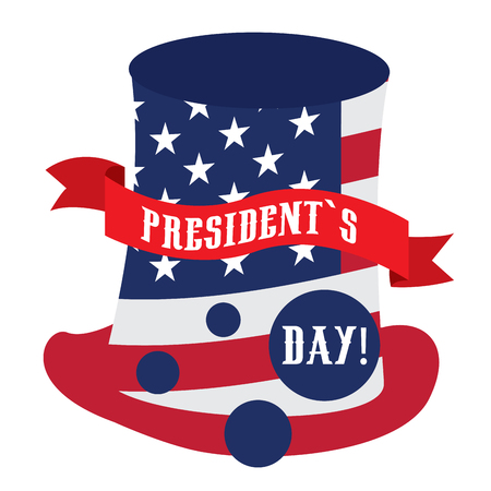 Isolated president day sticker on a white background, Vector illustration