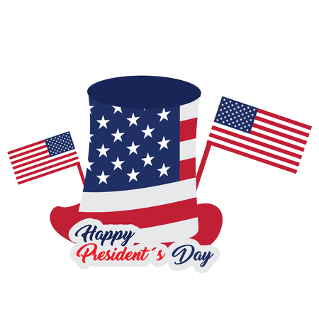 president day: Isolated president day sticker on a white background, Vector illustration