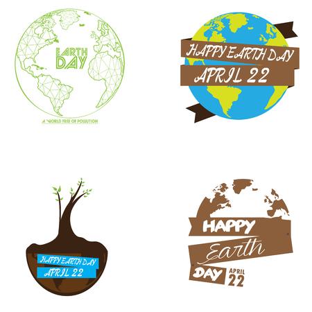 Tierra De Color Diseño Gráfico Día, Ejemplo Del Vector Fotos ...