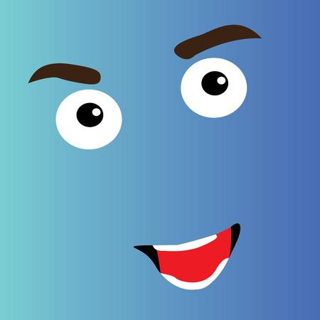 facial expression: Happy cartoon facial expression design, Vector illustration Illustration