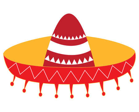 Isolated mexican hat on a white background, Vector illustration