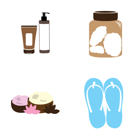 Set of spa icons on a white background, Vector illustration Illustration