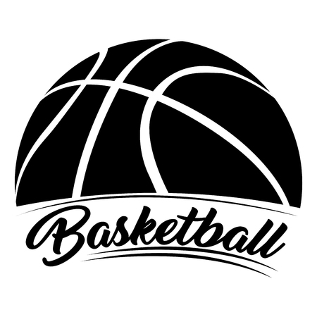 Isolated basketball emblem on a white background, Vector illustration