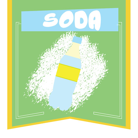 Isolated banner with a soda and text illustration