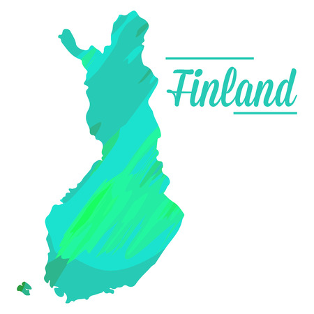 finnish: Isolated Finnish map on a white background, Vector illustration