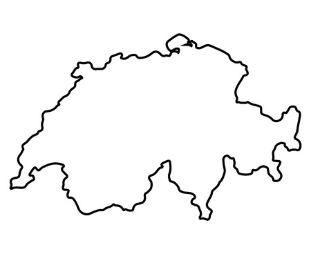 Isolated Swiss map on a white background, Vector illustration