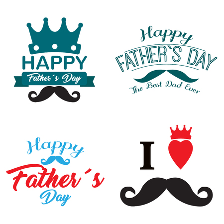 Happy fathers day graphic designs, Vector illustration