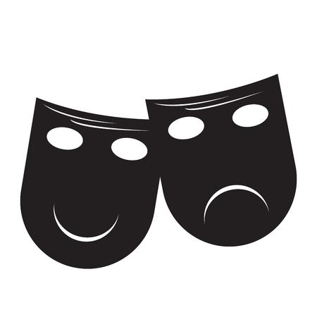 mardi grass: Isolated pair of theater masks, Vector illustration