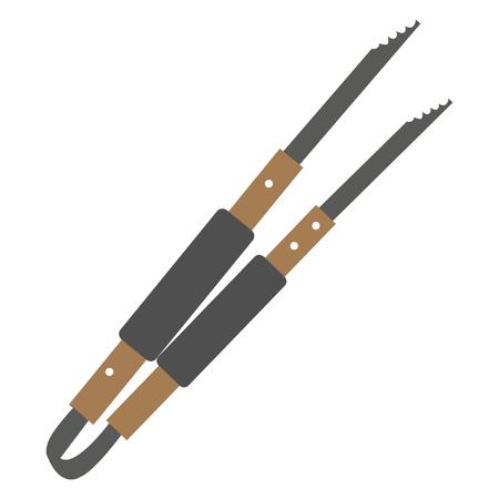 Pinces à épiler isolé sur fond blanc, illustration vectorielle