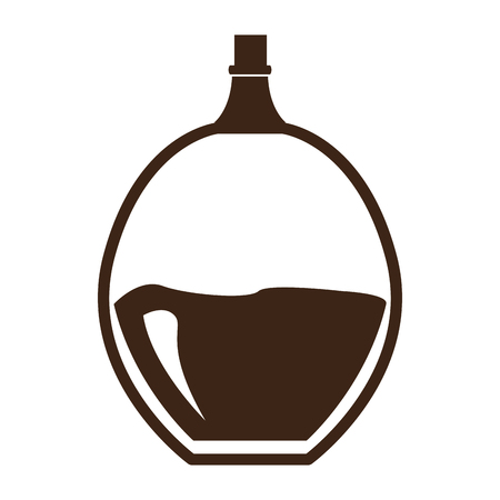massage symbol: Isolated silhouette of a lotion flask, Vector illustration