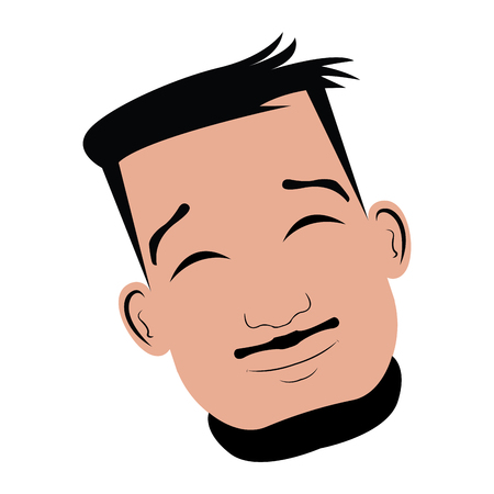 Isolated happy avatar of a man, Vector illustration