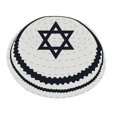 Isolated jewish kippa on a white background, Vector illustration