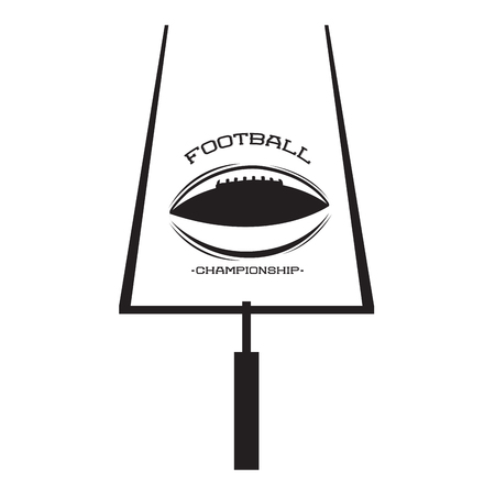 Isolated football goal post and a ball, Vector illustration