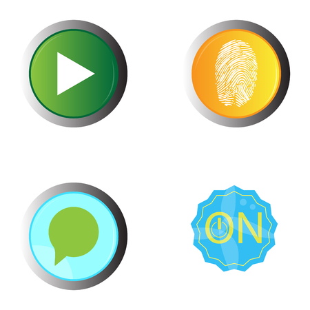 Set of web buttons on a white background, Vector illustration