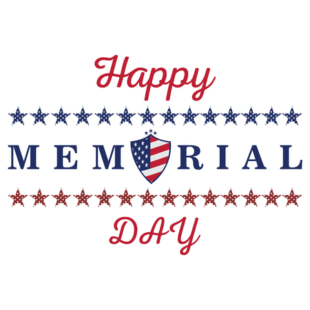 fallen: Isolated memorial day label on a white background, Vector illustration Illustration