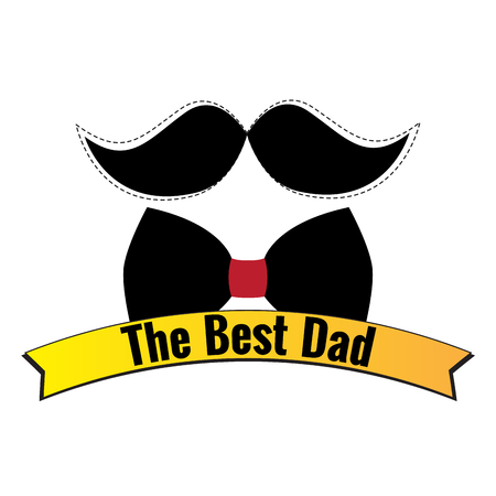 Happy fathers day graphic design, Vectro illustration Illustration