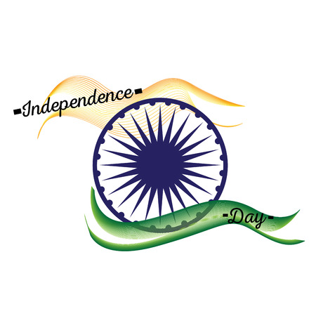 Happy indian independence day graphic design, Vector illustration Illustration