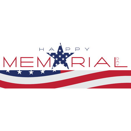 fallen: Isolated memorial day emblem on a white background, Vector illustration