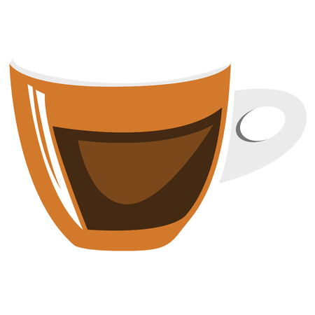 coffee beans: Isolated abstract coffee mug logo, Vector illustration Illustration