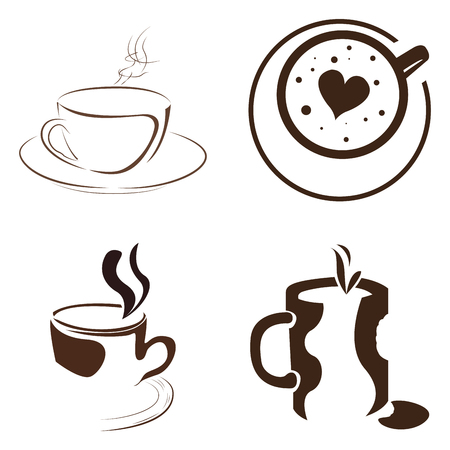 coffee beans: Set of abstract coffee logos, Vector illustration Illustration