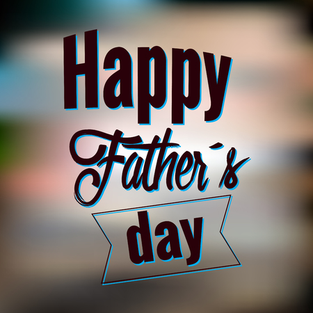 family holiday: Happy Father Day graphic design, Vector illustration Illustration