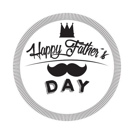 Isolated label with text, Father Day vector illustration