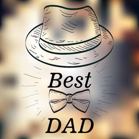 Happy Father Day graphic design, Vector illustration Illustration