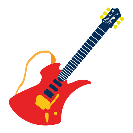 Isolated guitar toy on a white background, Vector illustration
