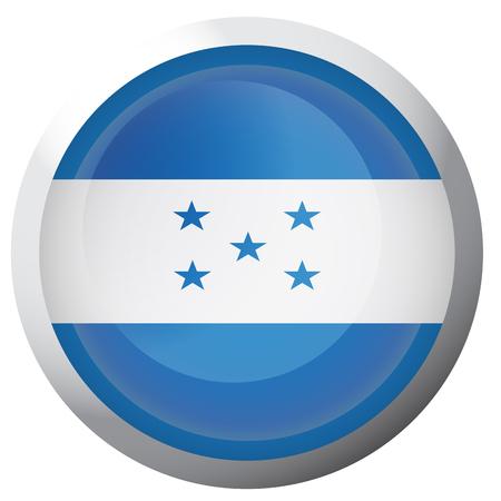 Isolated flag of Honduras on a button, Vector illustration