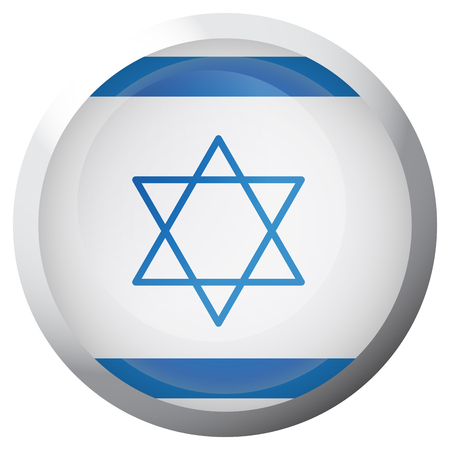 Isolated flag of Israel on a button, Vector illustration