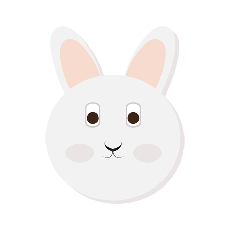 Isolated cute rabbit face on a white background, Vector illustration Illustration