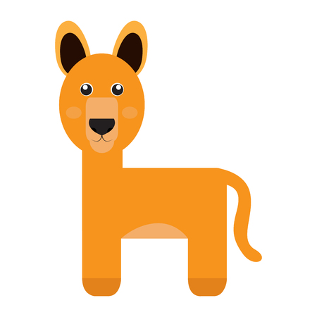 studio zoo: Isolated cute alpaca on a white background, Vector illustration