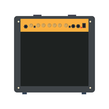 electronic music: Isolated speaker on a white background, Vector illustration