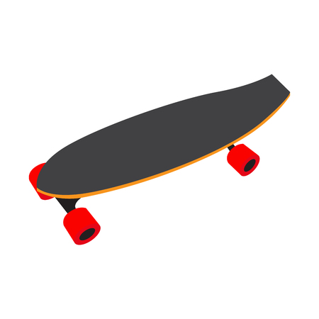 Isolated skateboard on a white background, Vector illustration Illustration